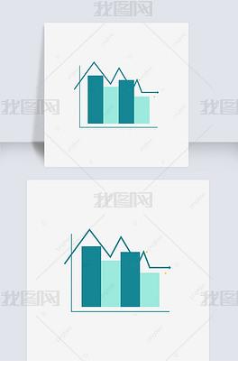 彩色信息图表科技柱状图蓝色