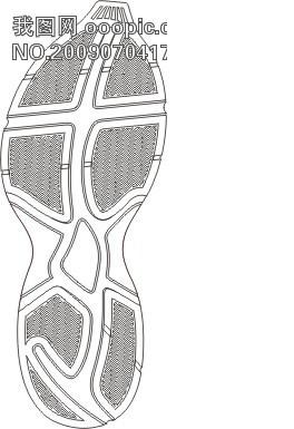 动感漂亮的运动鞋大底